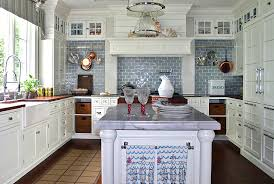 blue tile backsplash kitchen blue and white kitchen wall tiles outofhome