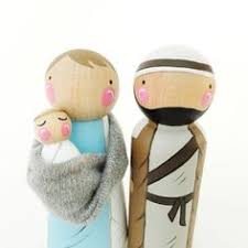 nativity peg dolls by hethrfethr on etsy christmas pinterest