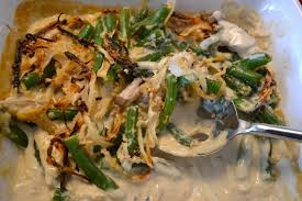 green bean casserole with ingredients