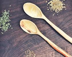 Hand Carved Wooden Kitchen Utensils by Sale Wooden Ladle 13 7 Wooden Deep Spoon Handmade