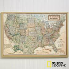 personalized 24x36 national geographic u s canvas map office gifts