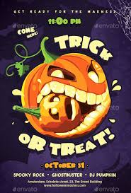 Ffflyer Download The Trick Or Treat Halloween Flyer Template For