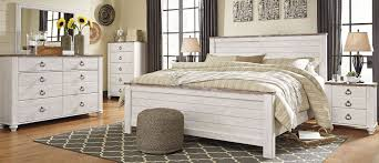 Bed Sets White Signature Design By Willowton Whitewash Panel Bedroom Set