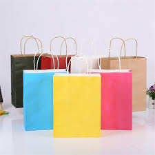 christmas shopping bags hot party gift coloured paper bags with handles wedding birthday