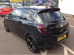 vauxhall corsa black vauxhall corsa 1 4 i 16v black edition 3dr socialmotors car finance