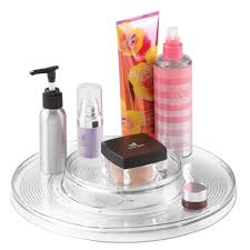 amazon com mdesign lazy susan turntable cosmetic organizer for