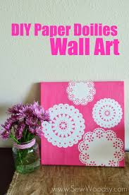 284 best simple diy wall art images on pinterest diy wall art paper doilies wall art great home decor idea uses martha stewart crafts decoupage click thru for the full tutorial