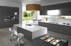deco cuisine gris et blanc decoration cuisine moderne grise recherche déco cuisine