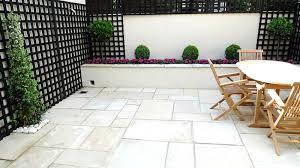 Raised Garden Bed On Concrete Patio Sandstone Paving Patio Raised Beds Classic Modern Planting Black