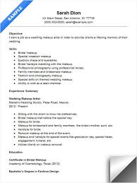 Exles Of Server Resume Objectives Wedding Makeup Artist Resume Sle Resume Exles