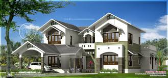 2 luxury house elevations by r it designers kannur kerala home