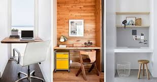 How To Make A Small Desk Small Home Office Idea Make Use Of A Small Space And Tuck Your