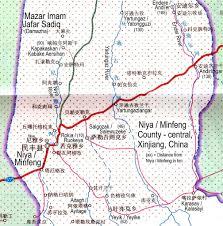 Taklamakan Desert Map Central Niya Minfeng County Map Xinjiang China Flickr