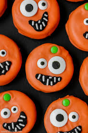 Eyeball Appetizers For Halloween by Pumpkin Oreos Lil U0027 Luna