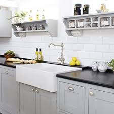 white kitchen cabinets with farm sink luxury 33 x 20 inch modern farmhouse ultra fireclay kitchen sink in white 50 50 bowl reversible by barkano