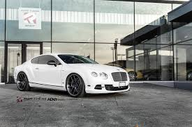 chrome bentley gorgeous white bentley continental gt sitting low on a set of adv1