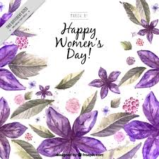 flowers for s day watercolor purple flowers woman s day background vector free