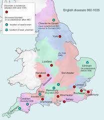 Map Of England And Ireland by Historical Development Of Church Of England Dioceses Wikipedia
