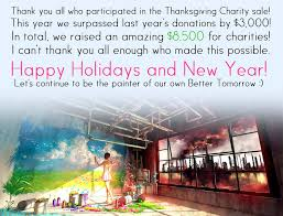 8 500 raised during thanksgiving charity sale yuumei