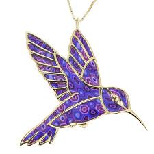 purple necklace pendant images Gold plated sterling silver hummingbird necklace pendant jpg