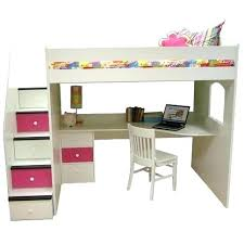 girls loft bed with a desk and vanity loft bed with desk vulcan sc