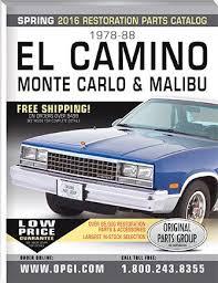 El Camino Interior Parts 9 Best Opgi Catalogs Images On Pinterest Parts Catalog Sheet