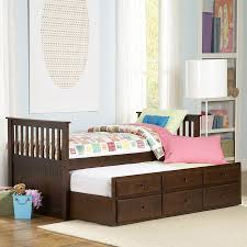 twin bed frame with drawers and headboard shop homelegance zachary espresso twin trundle bed with storage at