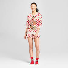 women u0027s santa rudolph red nosed reindeer 3 pc pajama target