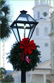 Christmas Decorations With Lights Uk lighting ft pre lit lamp post christmas tree with 35 clear