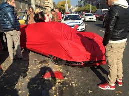 laferrari crash laferrari hits three parked cars in budapest