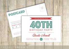 25 postcard birthday invitation templates u2013 free sample example