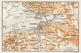 smyrna map historical map prints of smyrna izmir smyrne in turkey for sale