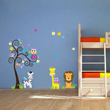 animal wall stickers lion and friends large sticker lion and friends colourful cartoon animals large uk