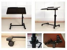 fantasycart portable laptop notebook rolling table cart stand