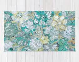 Modern Floral Rug Area Rugs Etsy