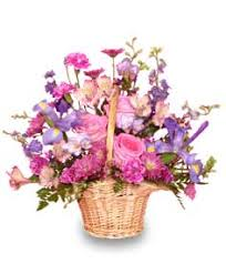 flower baskets mauve lous bouquet flower basket in texarkana ar unique flowers