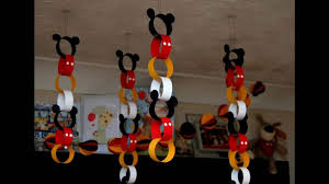 Mickey Home Decor Mickey Mouse Party Themed Decorating Ideas Youtube