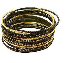 black gold bangle bracelet images Krisklank indian bangles set green gold jpg