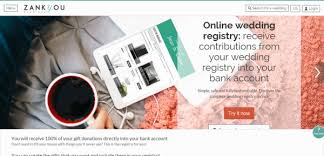 wedding registry bank account zankyou wedding websites wedding registry the budget