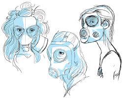 gas mask girls by baykinz on deviantart