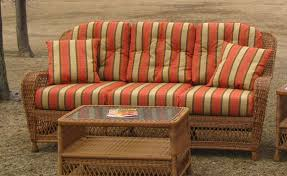 Wicker Style Outdoor Furniture by Sofa Cushion Set Wicker Style