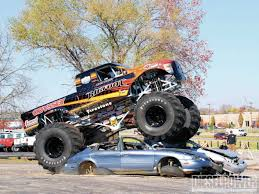 batman monster truck video destruction tour youtube freestyle bigfoot monster truck video