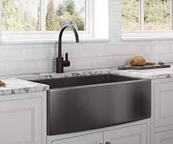 kitchen base cabinet uae ruvati apron front farmhouse kitchen sink gunmetal black