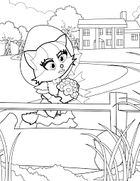southern belle coloring page handipoints