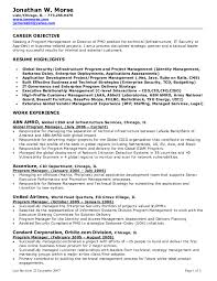 Sle Of Career Objectives For Resume objective forsume marketing project manager sle property for