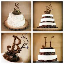 rustic monogram cake topper lace wedding dress with sleevesimage gallery image gallery
