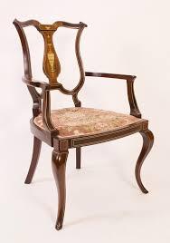 antique edwardian inlaid mahogany armchair c 1900