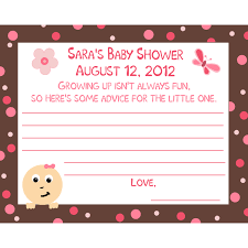 advice cards for baby shower wording zone romande decoration
