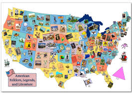 United States Map Activity by Tall Tales Tall Tales Literature And Folklore