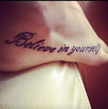 41 best believe tattoos on foot images on pinterest free